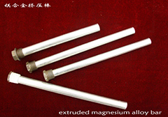 Extruded magnesium alloy bar