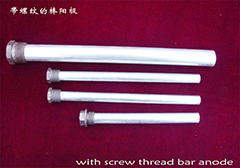 With screw thread bar anode
